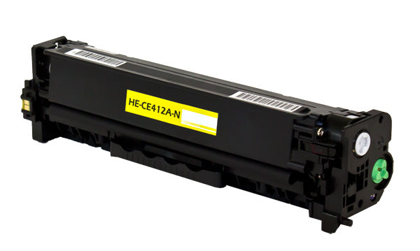 CE412A Hewlett-Packard Compatible Toner, Yellow, 2.6K Yield
