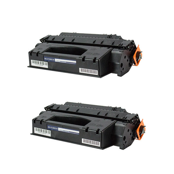 CF280X Hewlett-Packard Compatible Toner, Black, 6.9K High Yield *2 Pack