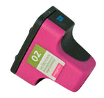 02 Hewlett-Packard Inkjet Remanufactured Cartridge, Magenta, 10ML