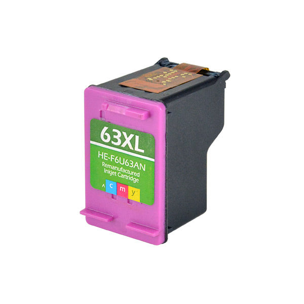 F6U63AN Hewlett-Packard Inkjet Remanufactured Cartridge, CMY, 18ML H.YieldReads Ink Volume