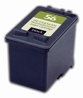 56 Hewlett-Packard Inkjet Remanufactured Cartridge, Black, 23ML