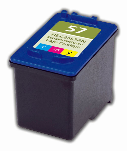 57 Hewlett-Packard Inkjet Remanufactured Cartridge, CMY, 18ML