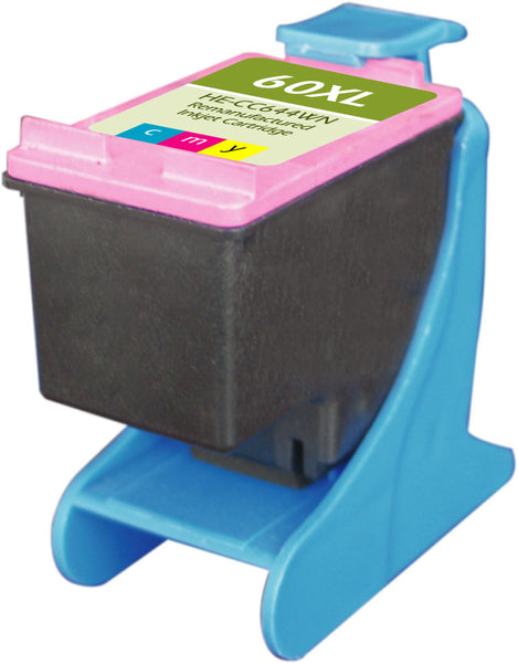 60XL Hewlett-Packard Inkjet Remanufactured Cartridge, CMY, 18ML H.Yield