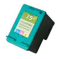 75 Hewlett-Packard Inkjet Remanufactured Cartridge, CMY, 12ML