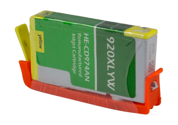 CD974AN Hewlett-Packard Inkjet Remanufactured Cartridge, Yellow, 12ML H.YieldReads Ink Volume