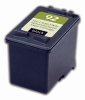 92 Hewlett-Packard Inkjet Remanufactured Cartridge, Black, 7ML