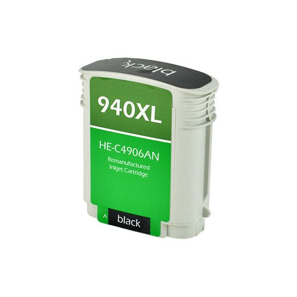 940XL Hewlett-Packard Inkjet Remanufactured Cartridge, Black, 69ML H.YieldReads Ink Volume