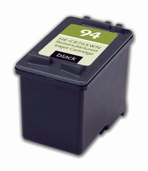 94 Hewlett-Packard Inkjet Remanufactured Cartridge, Black, 18ML