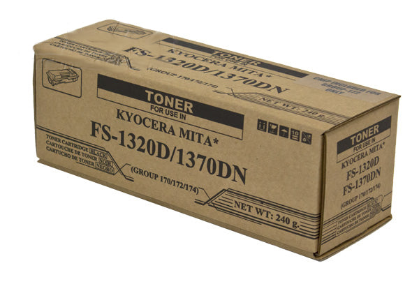 TK-172 Kyocera Mita Compatible Toner, Black, 7.2K Yield,  W/CHIP
