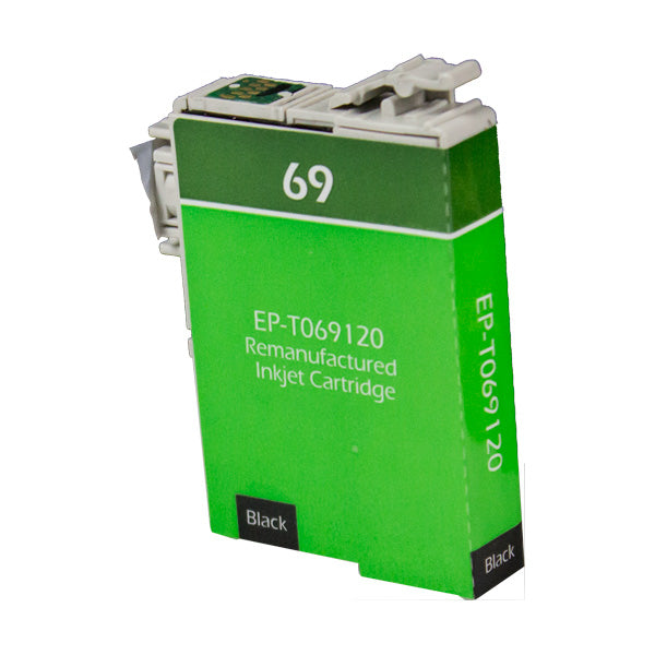 69 Epson Inkjet Remanufactured Cartridge, Black, 8ML