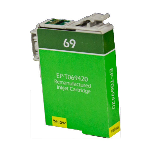 69 Epson Inkjet Remanufactured Cartridge, Yellow, 8ML