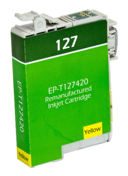T127420 Epson Inkjet Remanufactured Cartridge, Yellow, 11.7ML