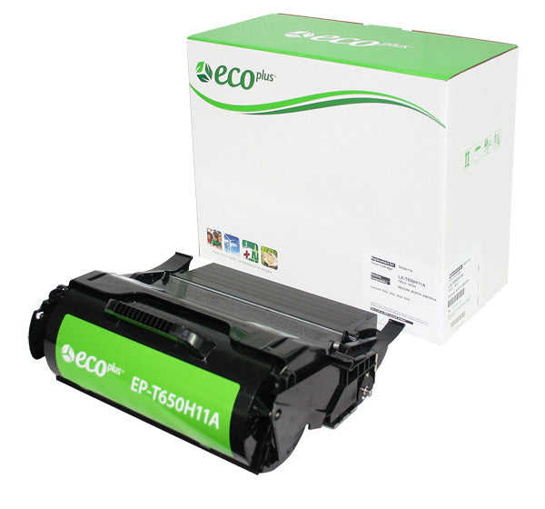 T650H11A Lexmark Remanufactured Cartridge, Black, 25K High Yield