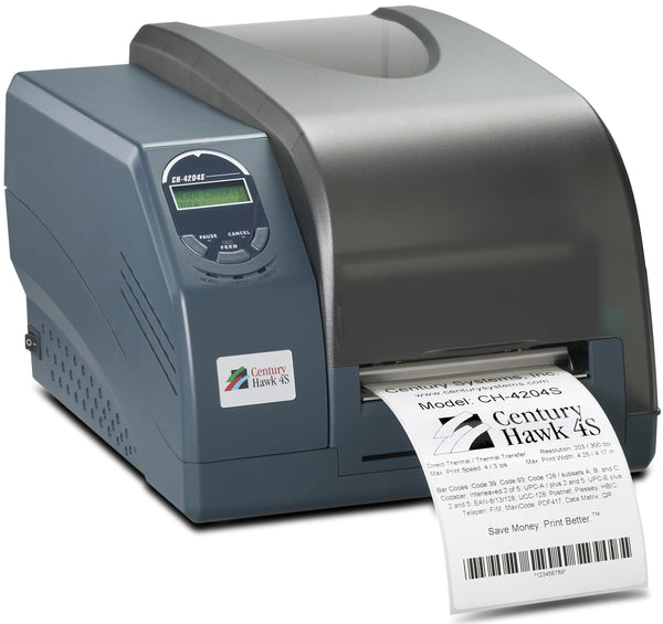 HSS-CH-4204S Hot Swap Saver: NEW CH-4204S Century Hawk 4S printer, 203dpi