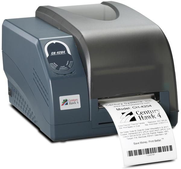 HSS-CH-4204 Hot Swap Saver: NEW CH-4204 Century Hawk 4 printer, 203dpi
