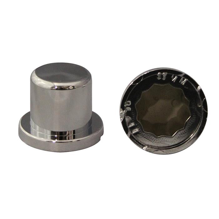 "11/16"" & 17 MM NUT COVER PLASTIC TOP HAT STYLE"