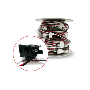 3 Prong 100 ft Roll Wire Harness with 12 Spacing (92 Plugs)""