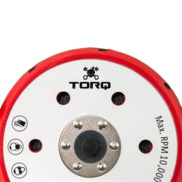 TORQ R5 Dual-Action Red Backing Plate With Hyper Flex Technology (6 Inch)