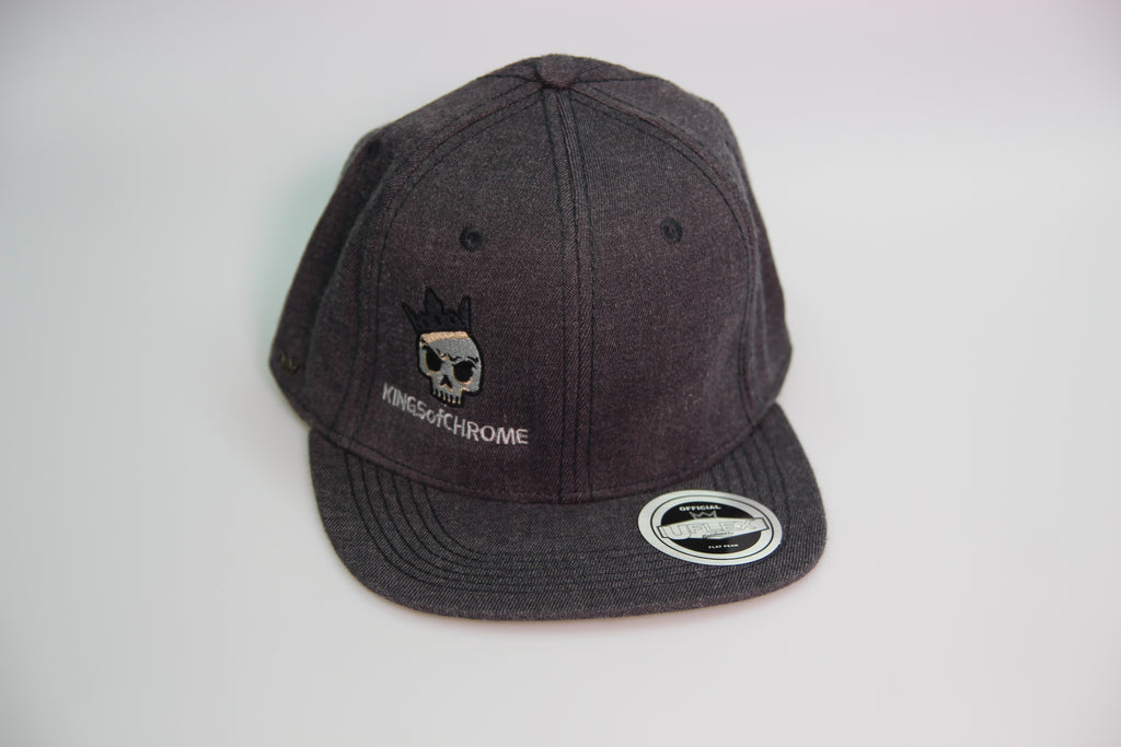 Kings of Chrome flat peak fitter players Hat - Dark Grey