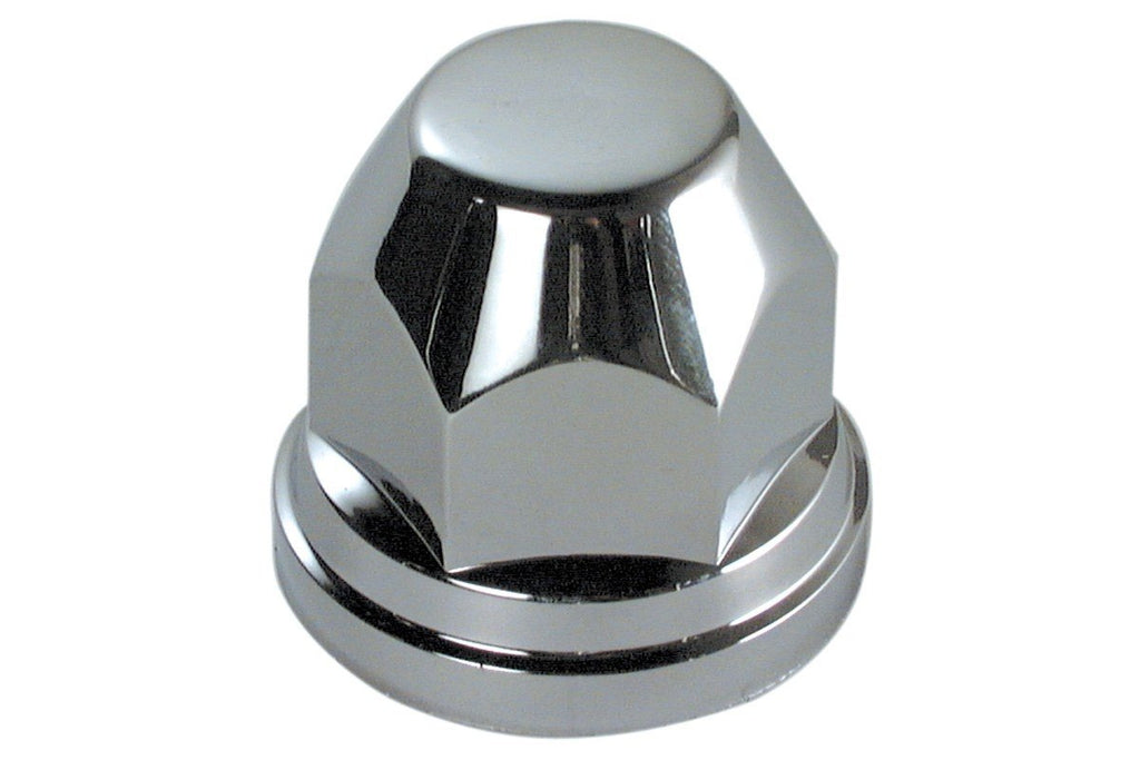 32mm Curved End Chrome Plastic Nut Covers (Box of 20) - won't rust!