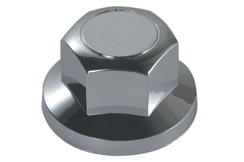 32mm Flat End Chrome Plastic Nut Covers (Box of 20) - won't rust!