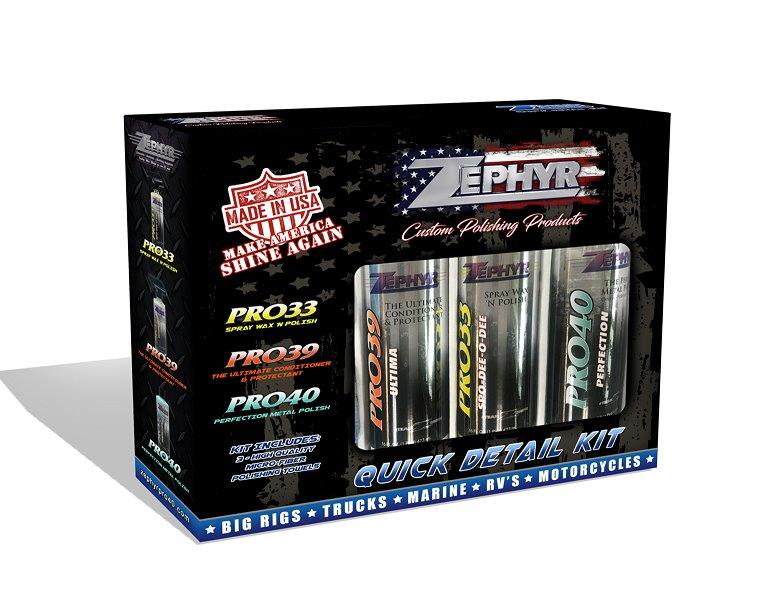Zephyr Truck Quick Detail Kit - 3 of Zephyrs Best!