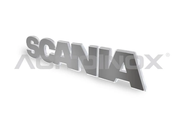 Scania Badge upgrade - Backlit Stainless Steel