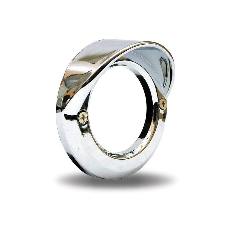 "2"" Chrome Plastic Bezel with Visor """