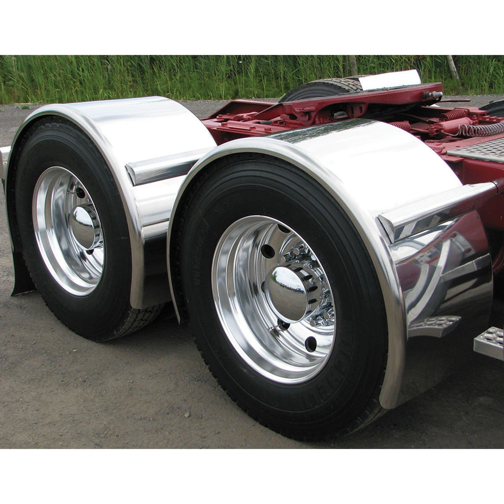 "95"" Smooth Super Long Single Axle Fender - 14 Ga."