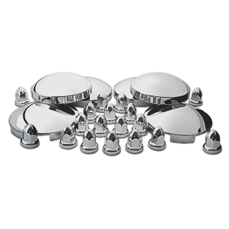 Stainless Steel Front & Rear Hubcap Kit