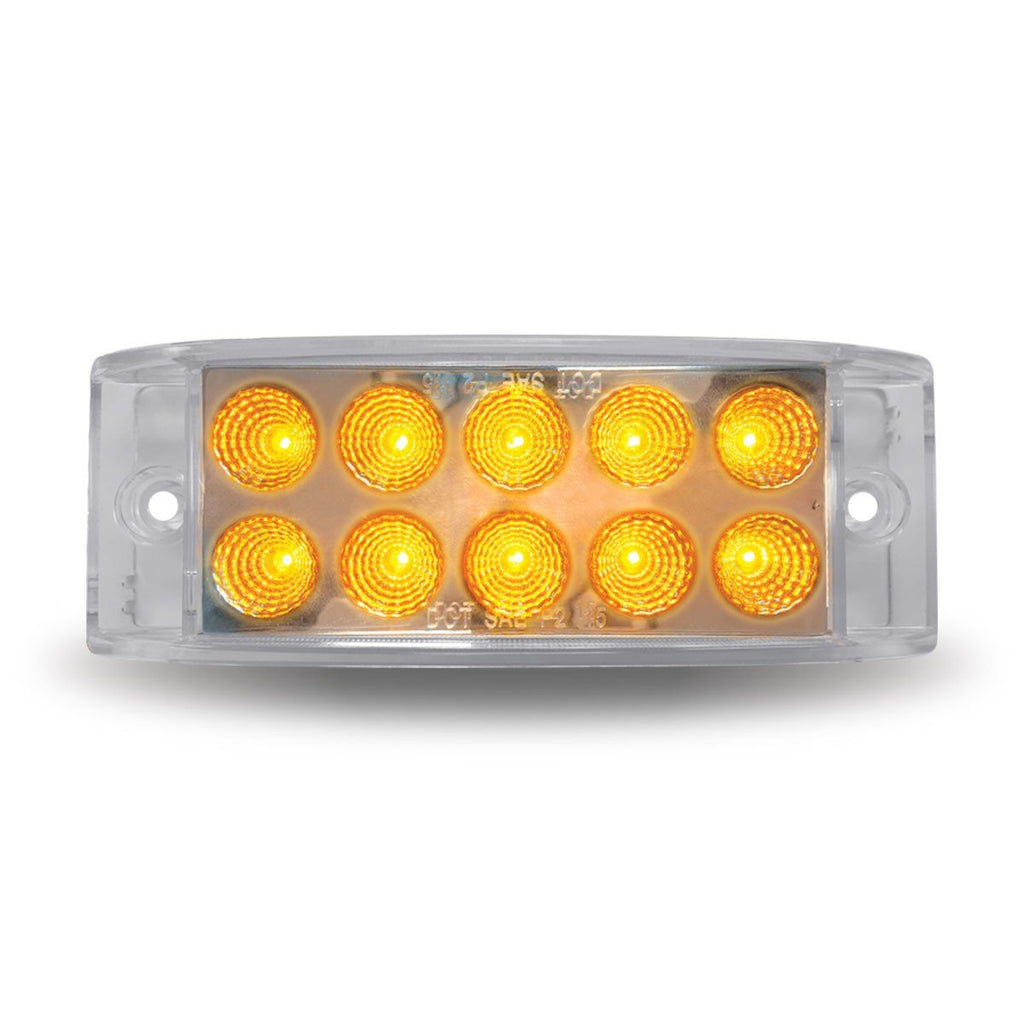 "2"" X 6"" Dual Revolution Trailer LED - Amber/Blue (10 Diodes)"