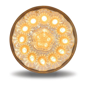 "4"" Super Diode Clear Amber Stop, Turn & Tail LED (17 Diodes)"""
