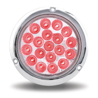 "4"" Dual Red/White Stop, Turn & Tail Flange Mount LED (19 Diodes)"
