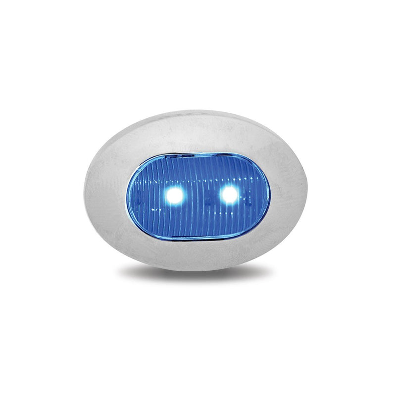 Mini Oval Button Dual Revolution Red/Blue LED