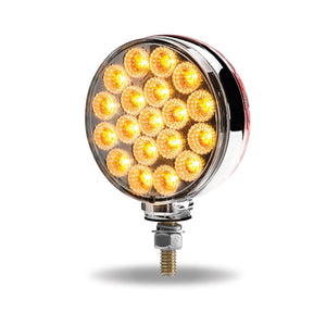 Double Face Combination Dual Revolution Amber/Red/Purple LED (38 Diodes)