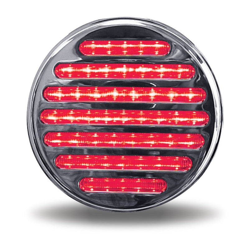 "4"" Dual Flatline Red/Blue LED (49 Diodes) 12v"