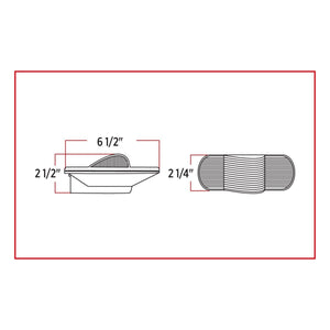 Oval Side Turn Signal & Marker LED Light with Hump (18 Diodes)
