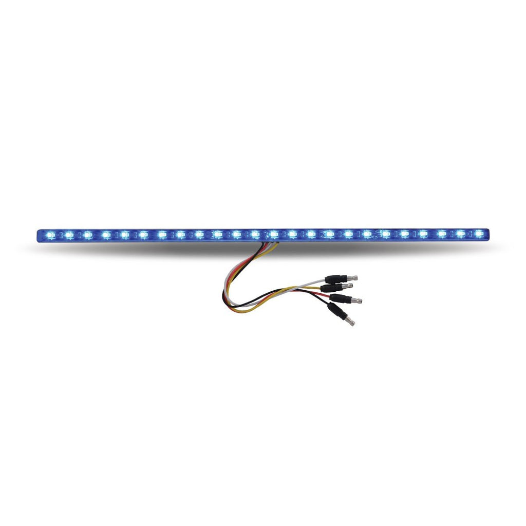 "TLED-SXAB - 17"" Dual Revolution Amber/Blue LED Strip - Attaches with 3M Tape"