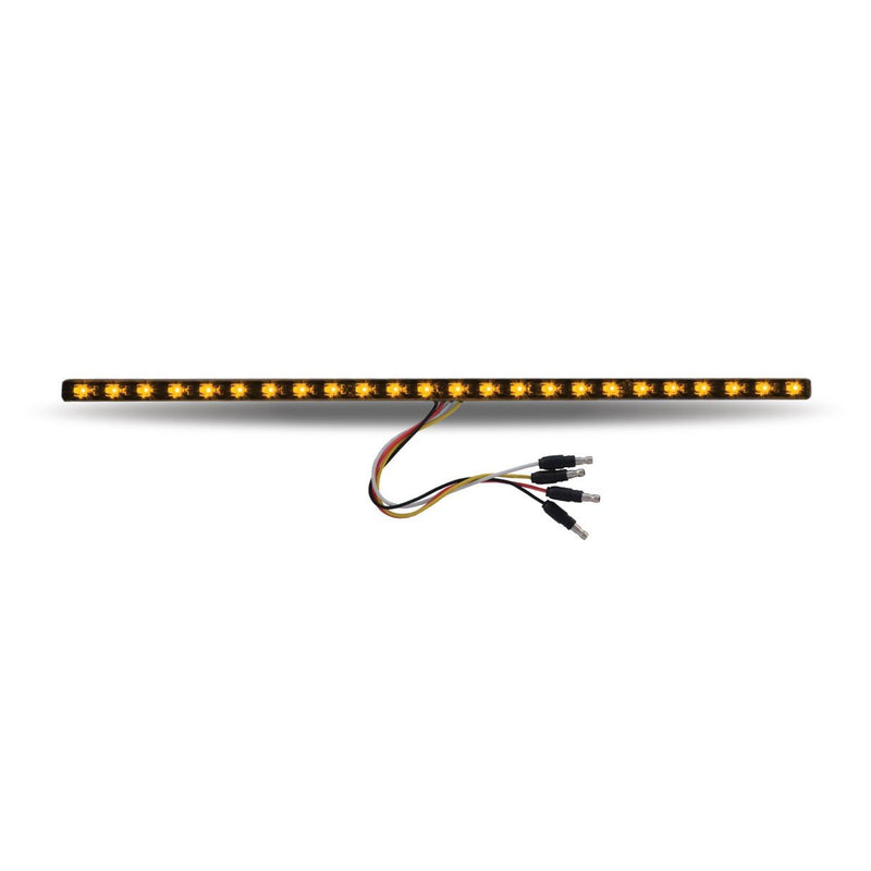 "17"" Dual Revolution Amber/Green LED Strip - Attaches with 3M Tape"