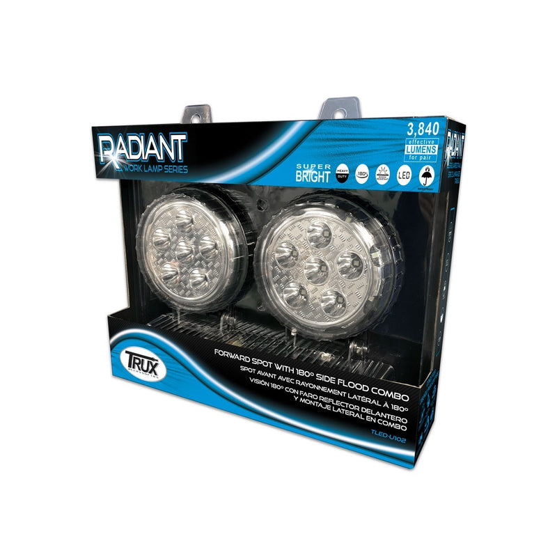 "Combination Spot and Flood beam, 180 degree , 4.5"" round (pair)"