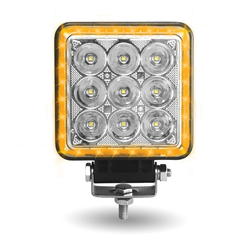 "Spot Beam with Amber Strobe, 4.25"" square, 360 degree, separately switched"