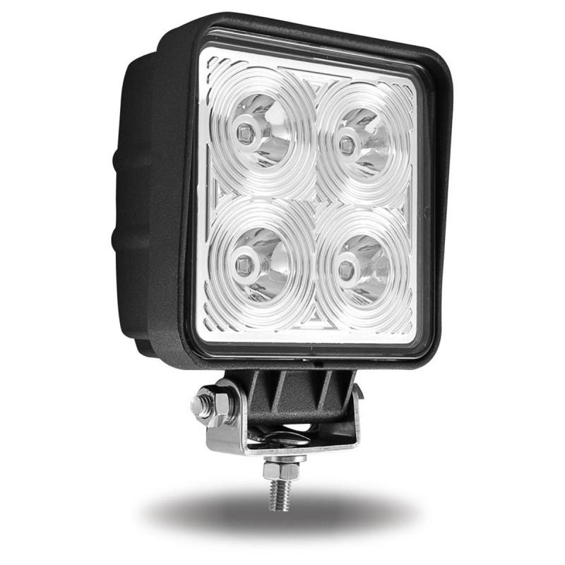 Universal White Square Work Light with Spot Beam - 4000 Lumens