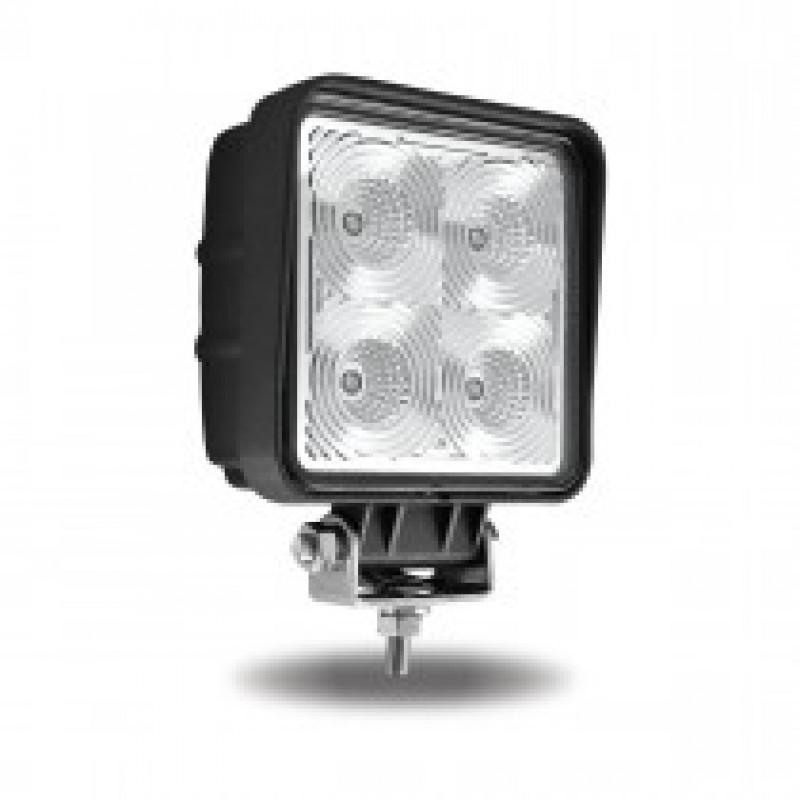 Universal White Square Work Light with Flood Beam - 4000 Lumens