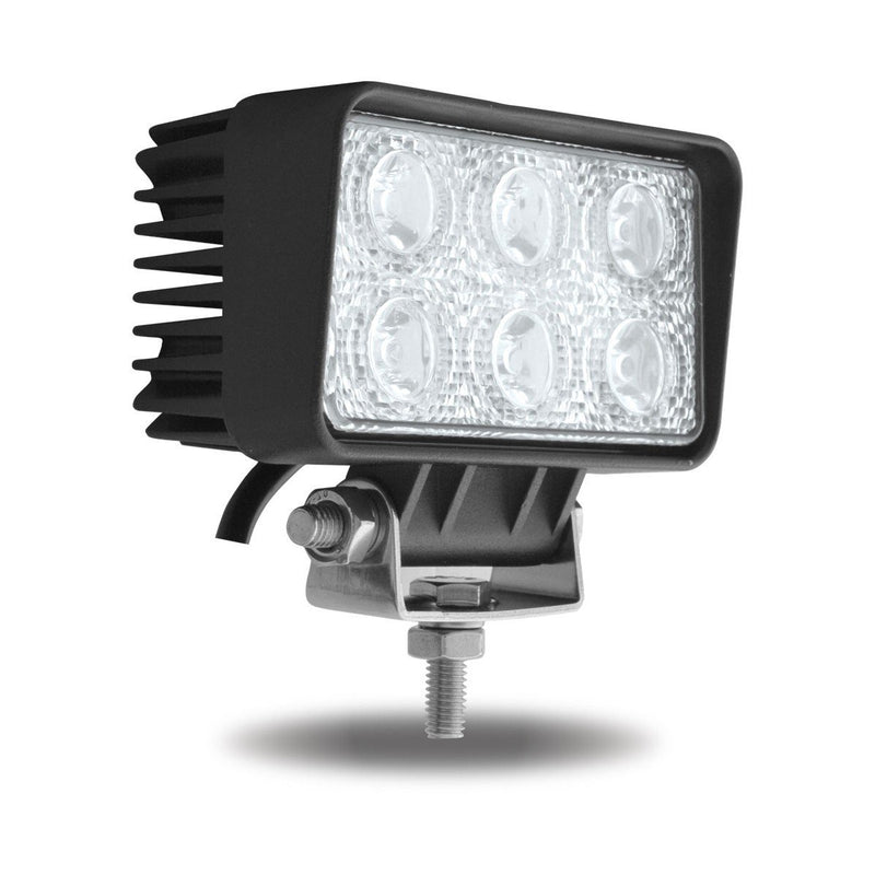 "2.5"" x 4.5"" Rectangular High Power LED Work Light - Spot Beam - 1000 Lumens (6 Diodes)"