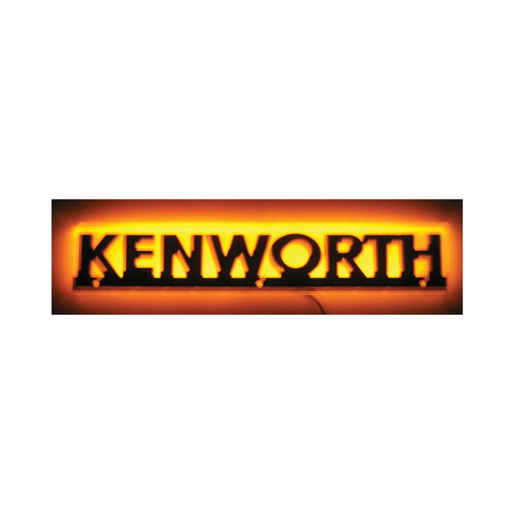 Stealth Amber Kenworth Logo - Name Cut Out