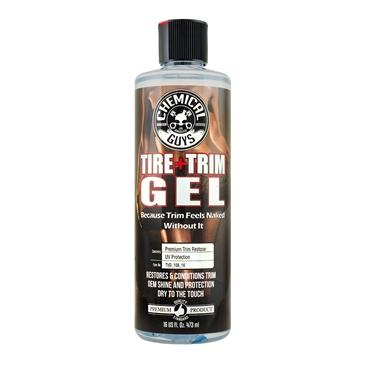 Gel Black Forever Trim & Tire,Shine & Protect That Keeps Black Parts Black For Months (16oz)