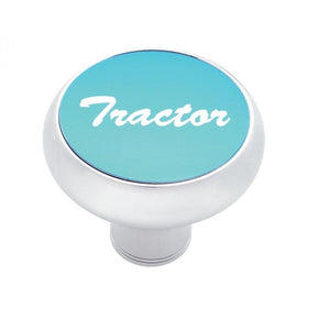New Style AIR VALVE SCREW-MOUNT KNOB w/ALUMINUM BLUE-TRACTOR- STICKER