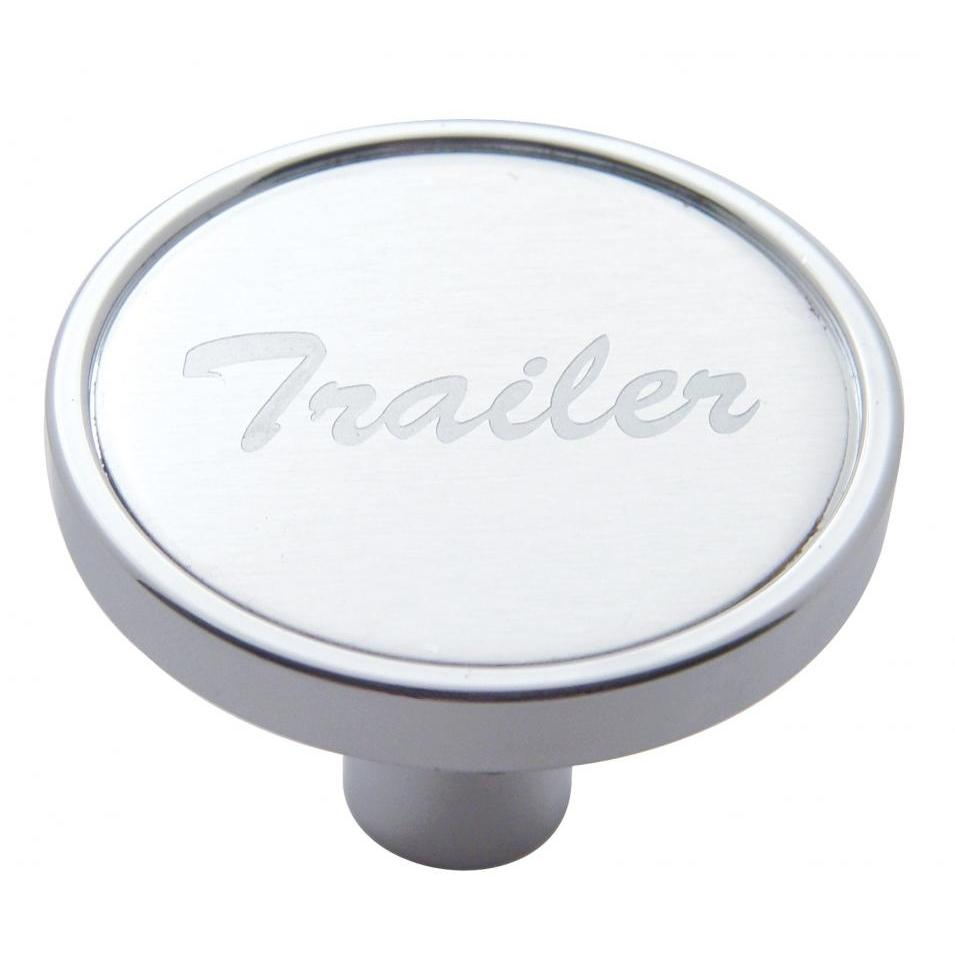AIR VALVE PIN-MOUNT KNOB/ SHORT w/ALUMN. STICKER TRAILER - SILVER