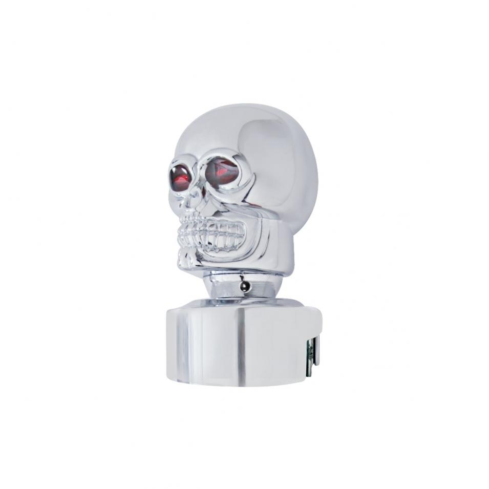 GEARSHIFT KNOB W/SKULL HEAD CHROME EATON FULLER TRANS. 13/18 SPEED