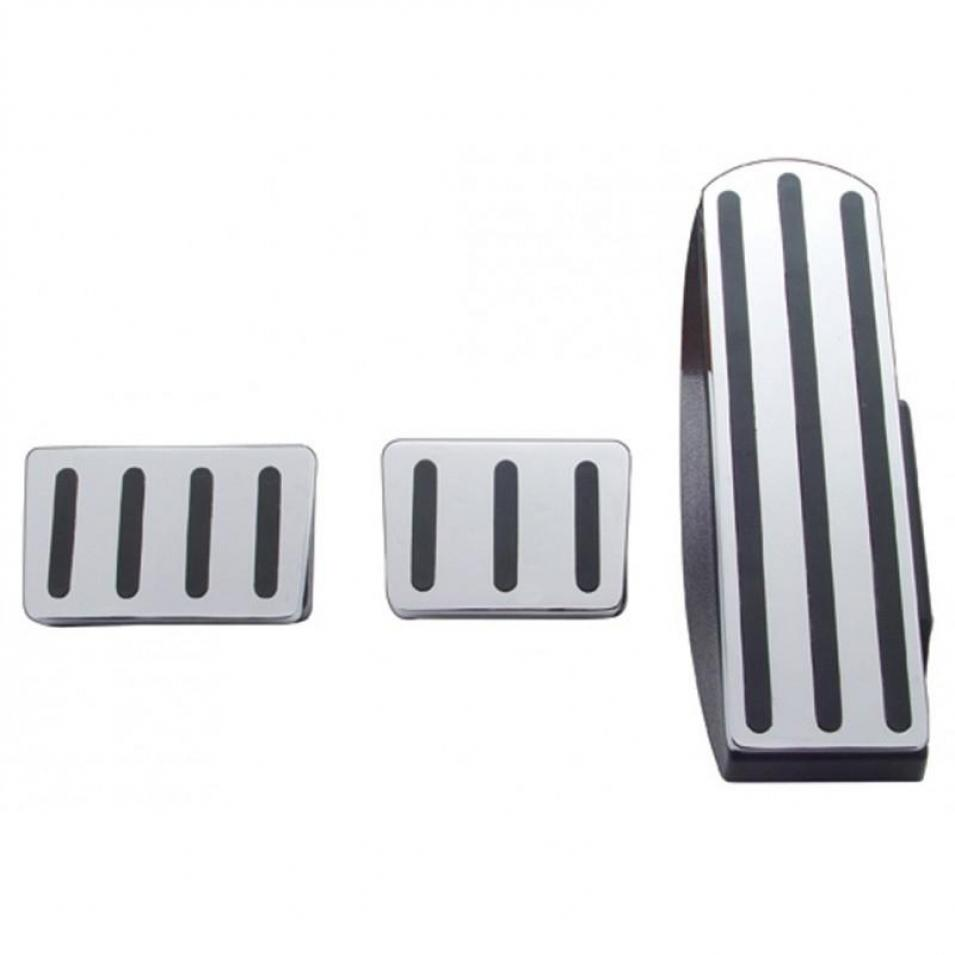FL FOOT PEDAL SET, CHROME ALUMINUM (Includes: Brake, Clutch & Gas Pedals)